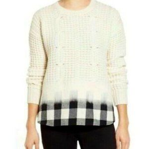MADEWELL | Knit Sweater w Flannel Lining